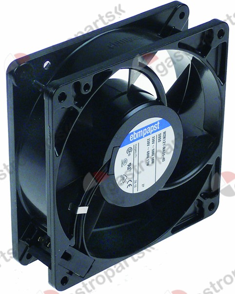 601.481, axial fan L 127mm W 127mm H 38mm 230VAC 50/60Hz