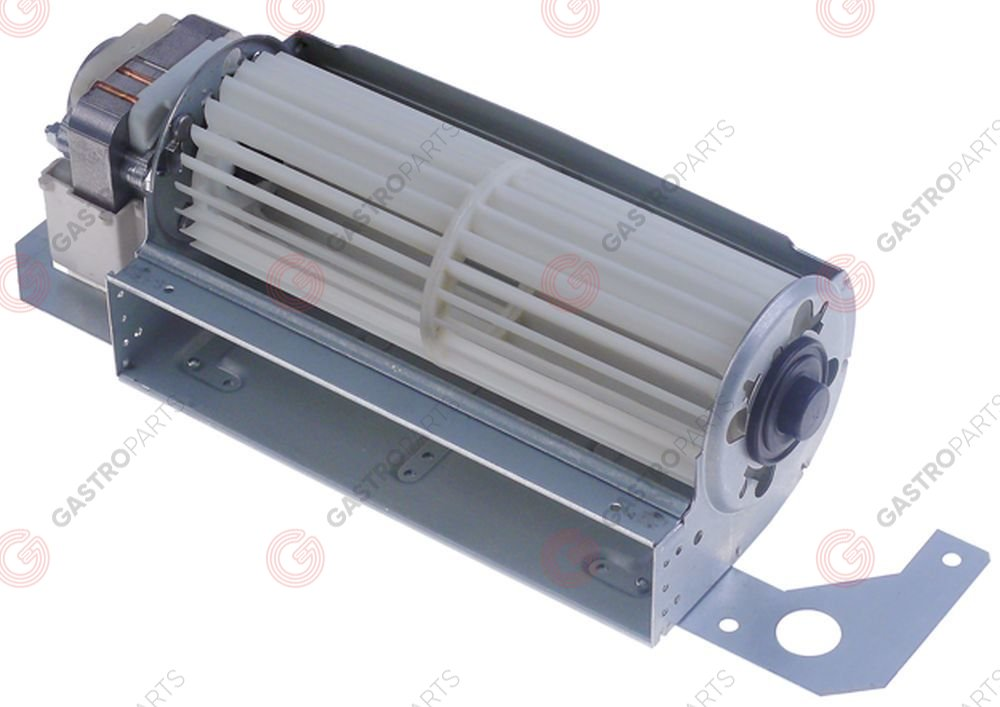 601.602, Cross flow fan roller ø 60mm roller length 180mm motor position left 27-32W refrigeration