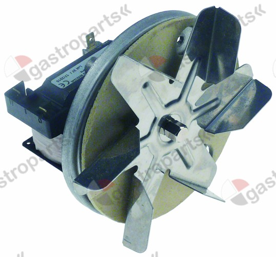 601.681, hot air fan 230 V 50 Hz L1 59 mm L2 13 mm L3 21 mm