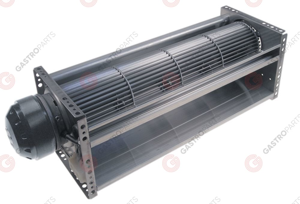 601.768, cross flow fan TAL 90/397/N roller ø 90mm roller length 397mm motor position left 220V/50Hz