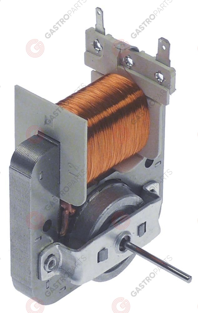601.838, ventilatormotor 220-240V 18W 2500U/min L1 33mm L2 12mm L3 15mm ventilatorblad ø 120mm as 2x2,5mm