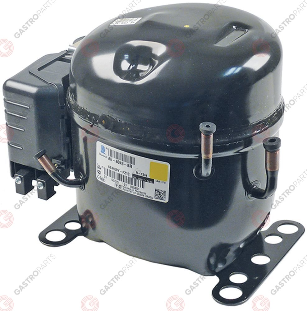 605.095, compressor coolant R134a type CAE4448Y 220-240V 50Hz HBP fully hermetic 12kg 3/8HP