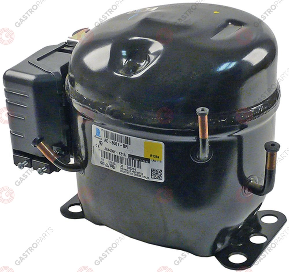 605.137, Replaced by 605173 / compressor coolant R134a type AEZ4430Y 220-240V50Hz HBP fully hermetic 10,2kg 1/4HP