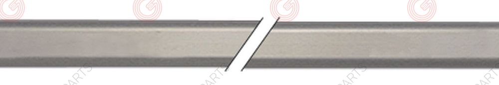 690.008, handle rod H 30mm L 630mm W 15mm aluminium