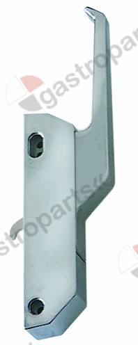 690.024, handle latch L 172mm mounting distance 124/133mm chrome-plated non lockable refrigeration units