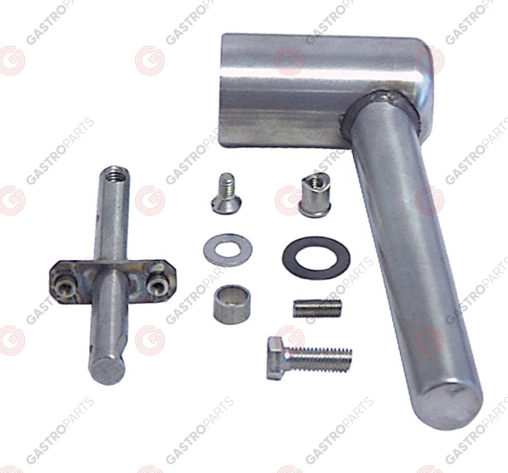 690.089, door handle L 155mm W 75mm handle o 40mm stainless steel complete mounting distance 30mm
