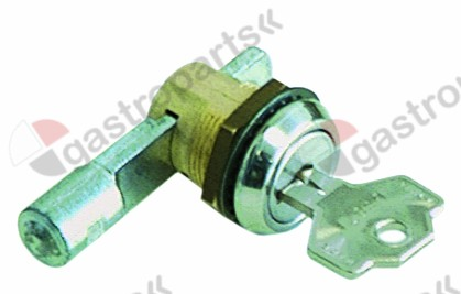 690.462, key cylinder with slide latch ø 23mm thread M19x1 thread L 12mm mounting measurements 16.5x19mm