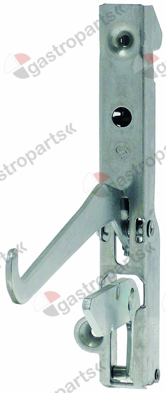 690.499, oven hinge lever length 125mm mounting distance 118mm spring thickness 4mm