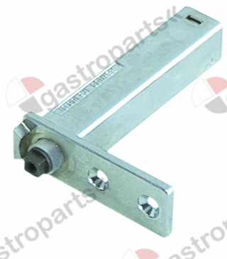 690.574, spring assisted hinge series 176 mounting pos. left/right L 75mm W 25,6mm A 11mm