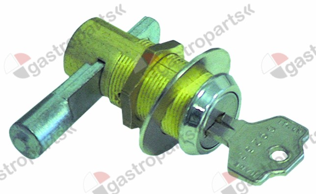 690.637, key cylinder with slide latch ø 23mm thread M19x1 thread L 24mm mounting measurements 16.5x19mm