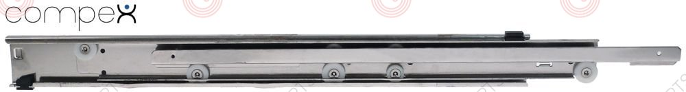 690.744, drawer slide L 600mm pull-out length 660mm total length 1260mm Qty 1 pair capacity 45kg