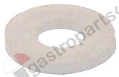691.332, flat gasket silicone D1 o 13,8mm D2 o 6mm