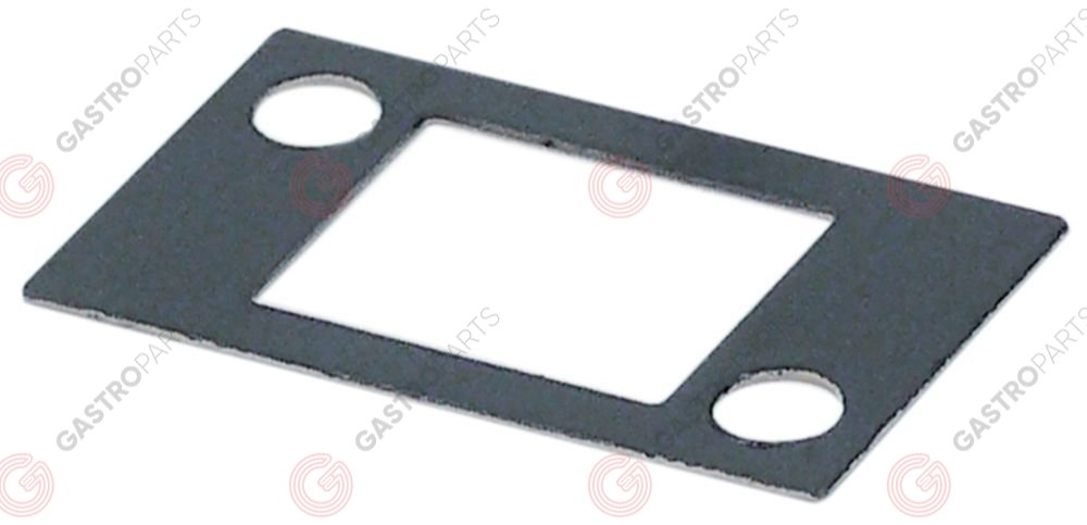 691.437, base plate L 38mm W 22mm for door leaf
