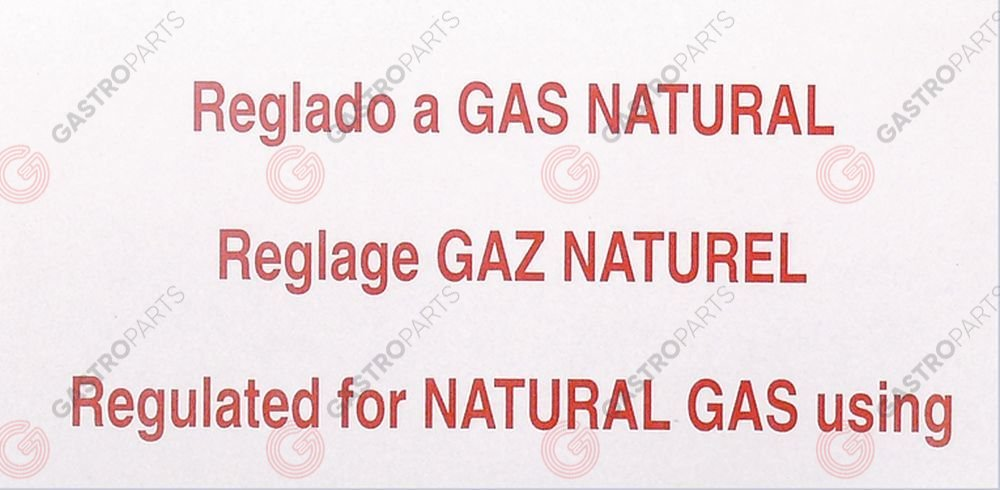 691.736, Sticker regulated for NATURAL GAS using