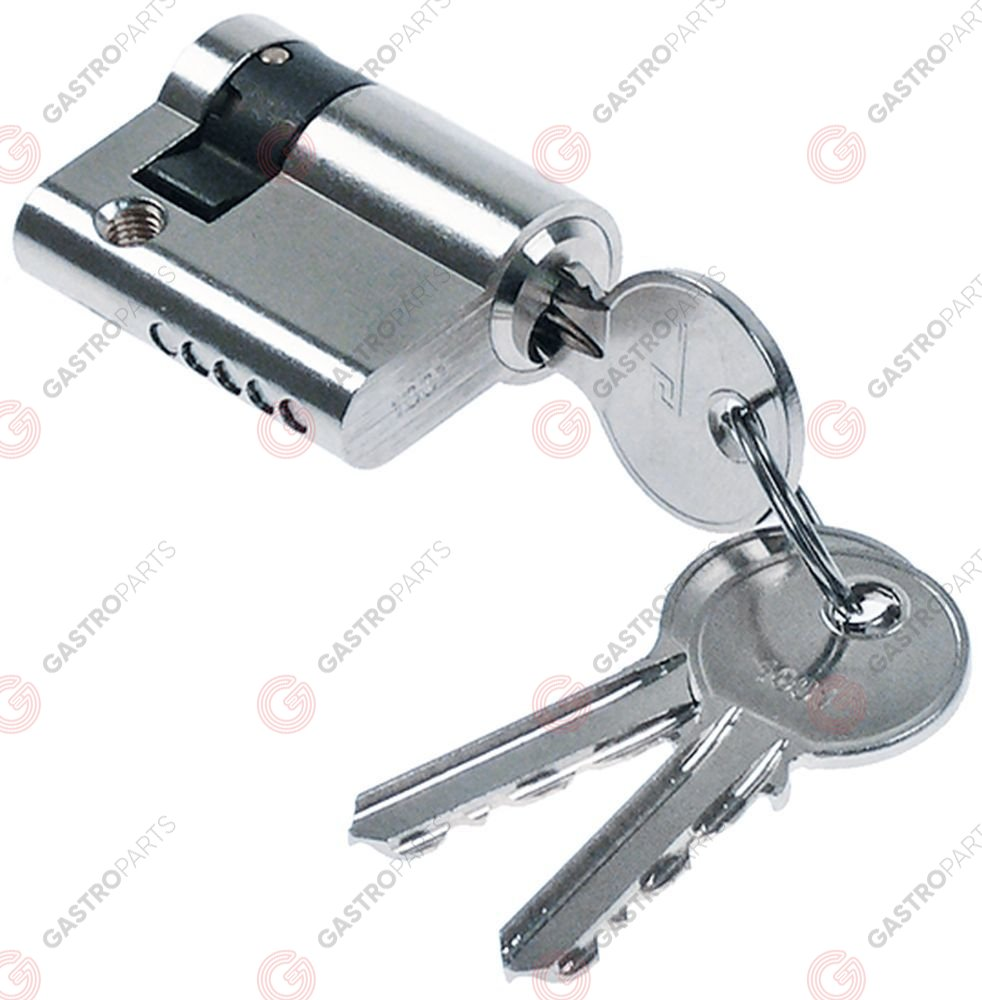 692.642, key cylinder for walk-in cold room catch W 17mm L 41,5mm H 32mm type 7100