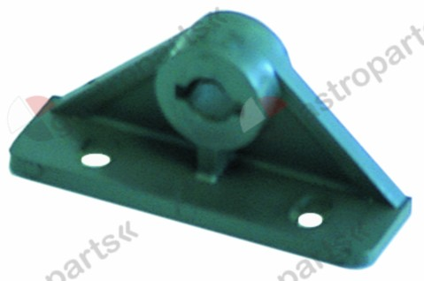 695.009, bracket paddle L 50mm W 17mm H 23mm shaft intake ø 6,5mm mounting distance 30mm