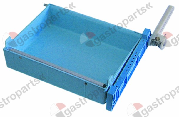 695.017, sump complete for ice maker L 275mm W 220mm ICEMATIC