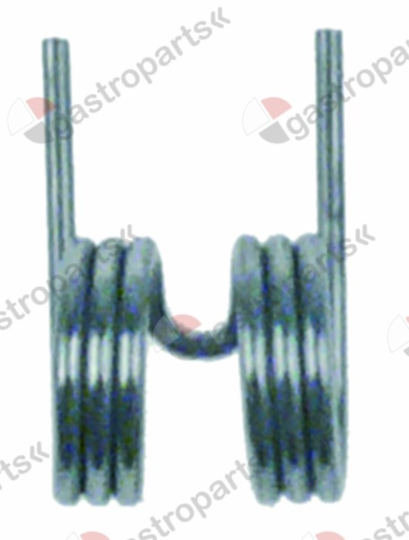 695.021, torsion spring ø 20,8mm L1 23,2mm L2 37mm wire gauge ø 2,3mm for ice maker