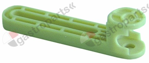 695.025, lever for sump L 143mm W 29mm H 37mm shaft intake ø 10mm plastic ICEMATIC