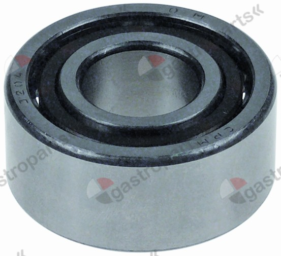 697.116, angular contact ball bearing type DIN 3204-2RS