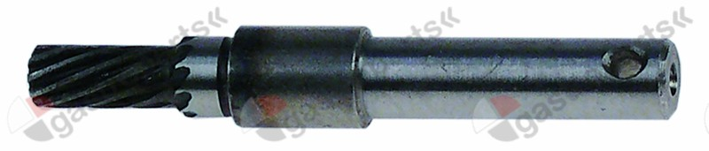 697.401, drive shaft D1 o 8 mm L 63 mm FM3