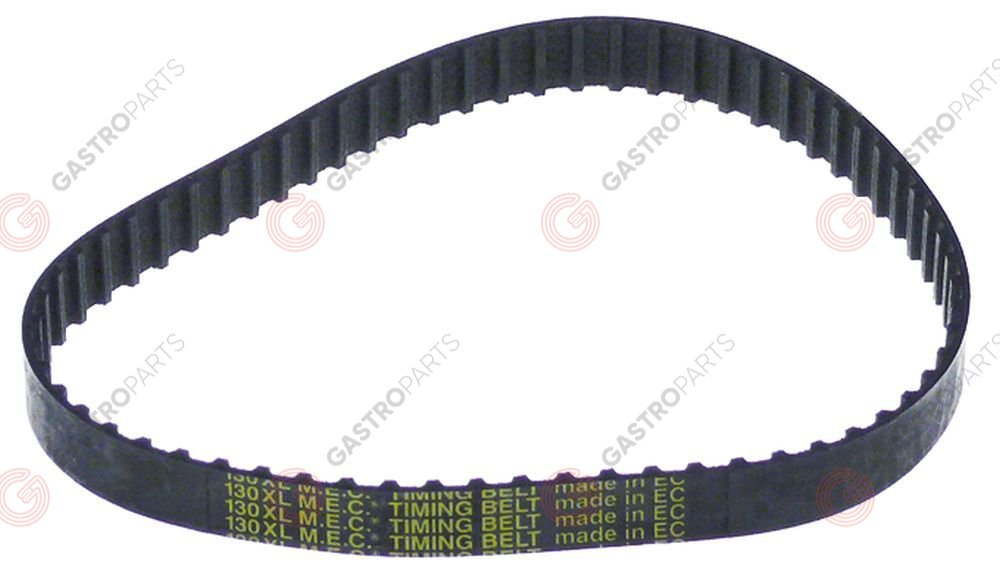 697.691, Toothed belt profile XL L 130 mm W 10 mm CODE 130XL037