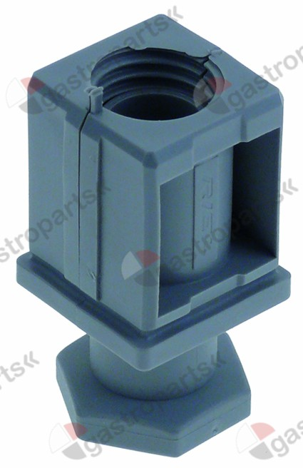 700.101, equipment foot pipe type 40x40 thickness 1-1.5mm H 20-35mm plastic Qty 1 pcs
