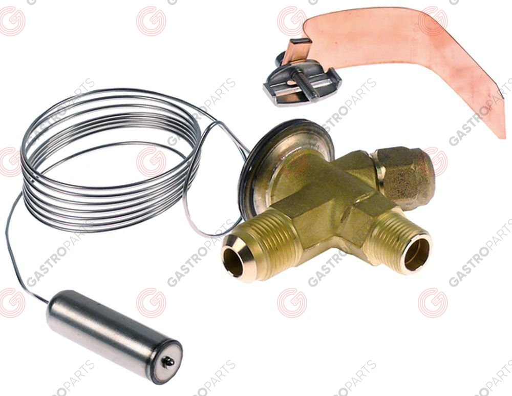 750.010, expansion valve DANFOSS type TX2 coolant angled 90° thermostatically controlled