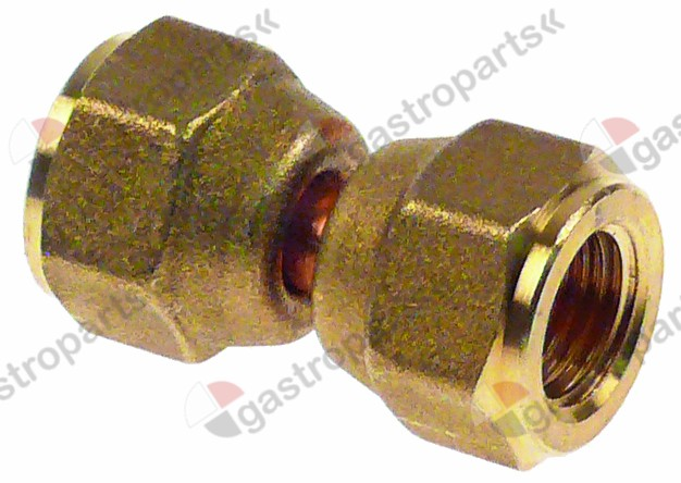 750.457, sleeve CASTEL  connection 1/4  SAE L 17mm US4-4