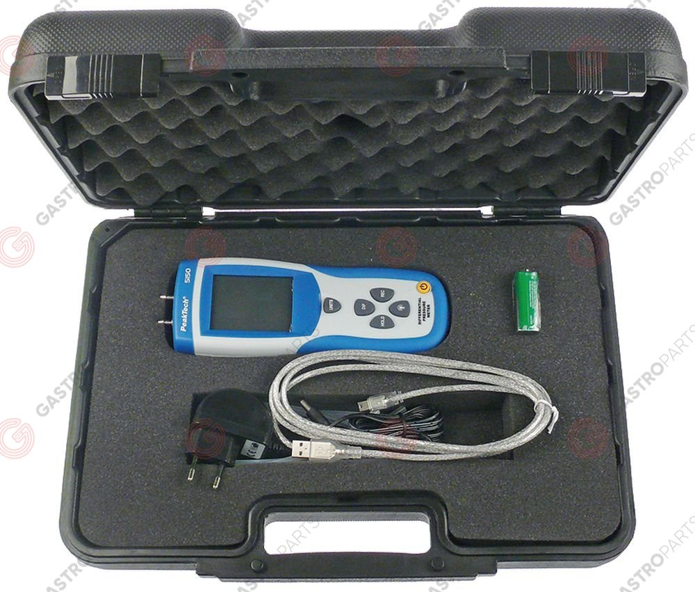 800.008, pressure meter -200 up to +200mbar type PeakTech 5150 differential-pressure