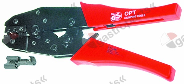 800.088, crimp pliers not insulated pick-up plugs with transmission/interchangeable dies