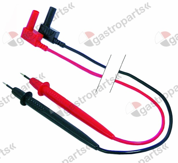 800.122, Replaced by 800028 / test prod set 2-piece cable length 1000mmred/black ø 4mm