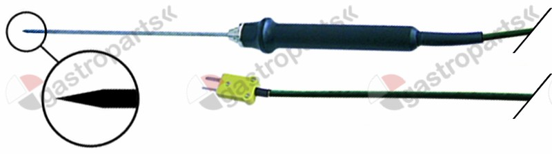 800.191, core temperature probe with cable -50 up to +550°C K tolerance 1.5°C, from 400°C% type GES500