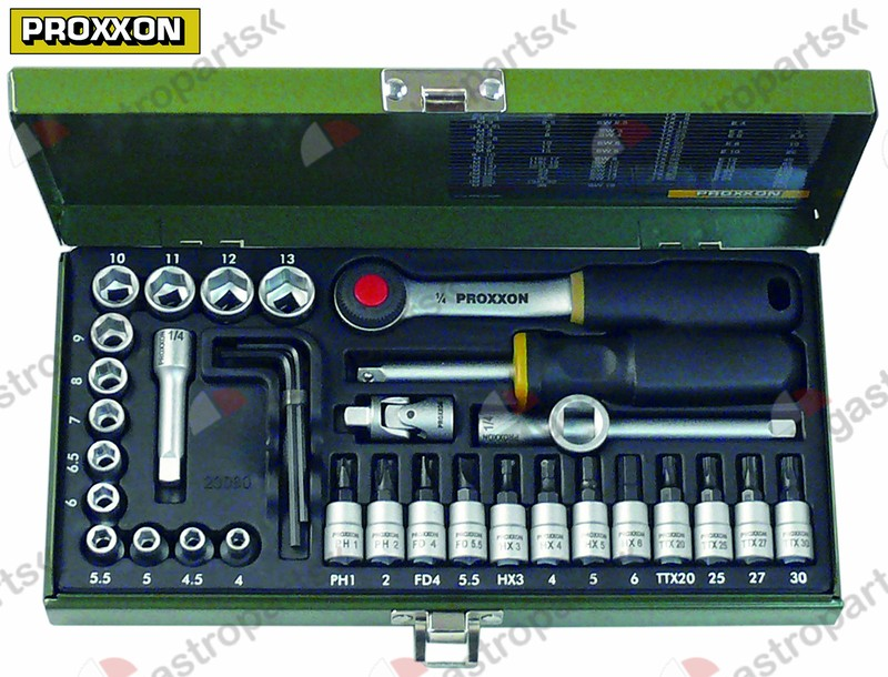 801.177, ratchet set 36-piece 1/4  PROXXON