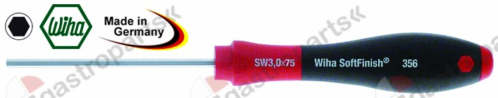 801.672, hexagon screwdriver size 4mm blade length 75mm