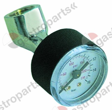 802.101, Replaced by 803042 / manometer test pressure gaugepressure range 0 up to 16bar ø 40mm