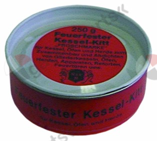 890.093, sealing compound FERMIT pot kit asbestos-free, fireproof 250g can t.max. 1000°C