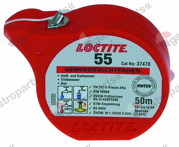 890.162, seal thread LOCTITE 55 L 50m -55 up to +130°C