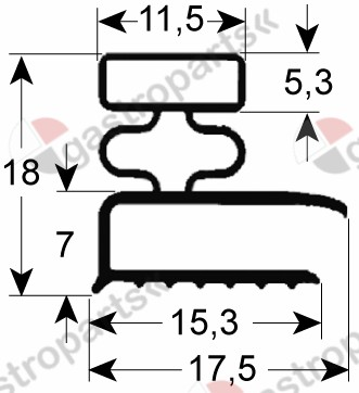 900.031, refrigeration gasket profile 9031 external size