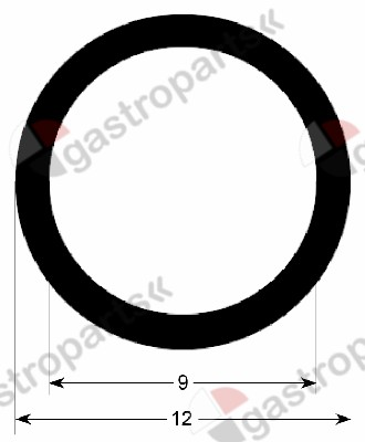 900.249, oven gasket profile 2965 L 305mm Qty 1 mounting pos. lateral