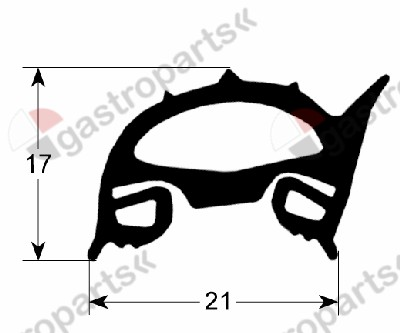 900.451, oven gasket profile 2510 W 450mm L 540mm external size Qty 1