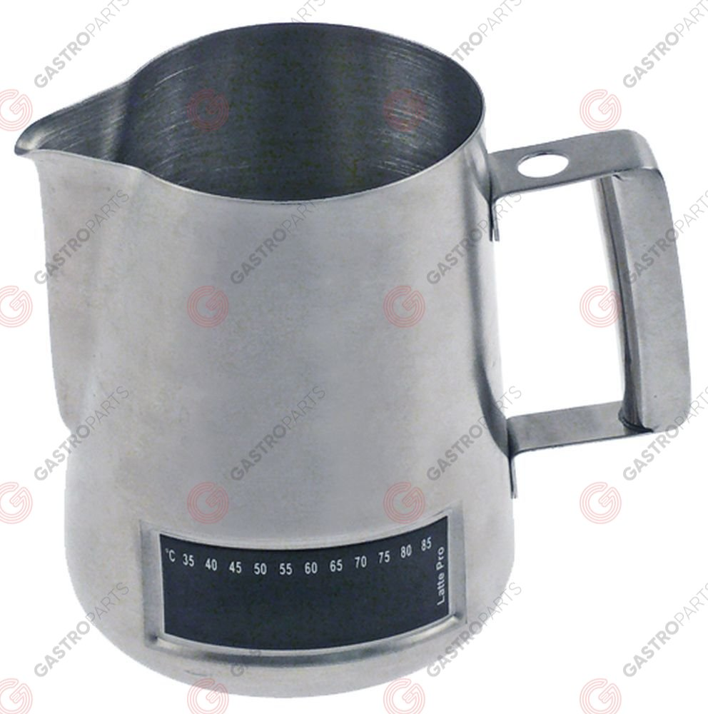 960.031, milk jug stainless steel with thermometer
