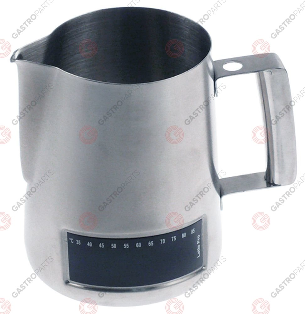 960.032, milk jug stainless steel with thermometer capacity 1l ø 115mm H 135mm