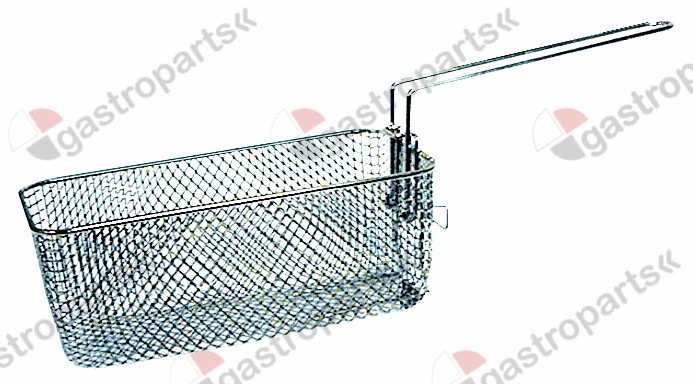 970.176, fryer basket L1 260mm W1 130mm H1 100mm chrome-plated steel
