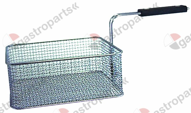 970.177, fryer basket L1 255mm W1 220mm H1 100mm chrome-plated steel