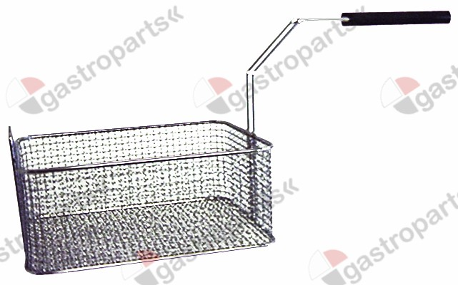 970.179, fryer basket L1 260mm W1 220mm H1 100mm chrome-plated steel