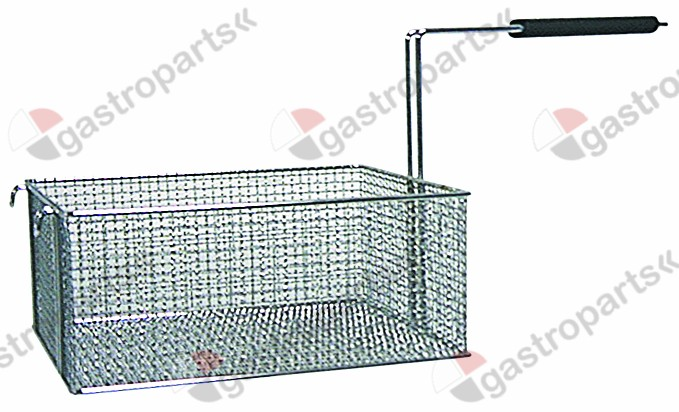 970.192, fryer basket L1 290mm W1 235mm H1 120mm chrome-plated steel