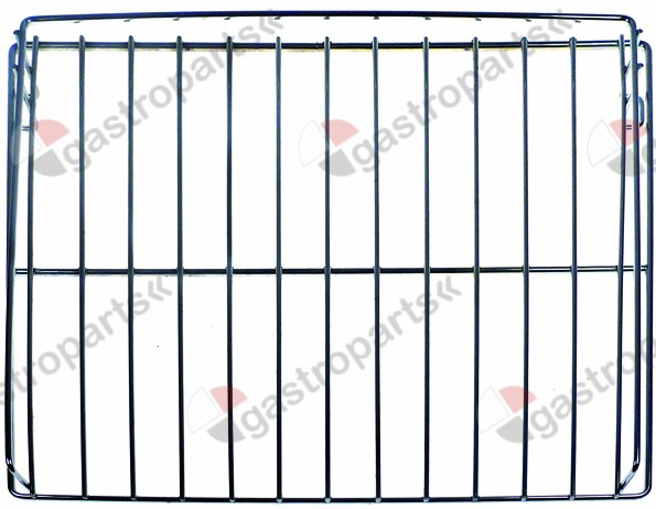 970.706, shelf W 530mm L 580mm H 55mm chrome-plated steel for oven wire gauge frame 7mm