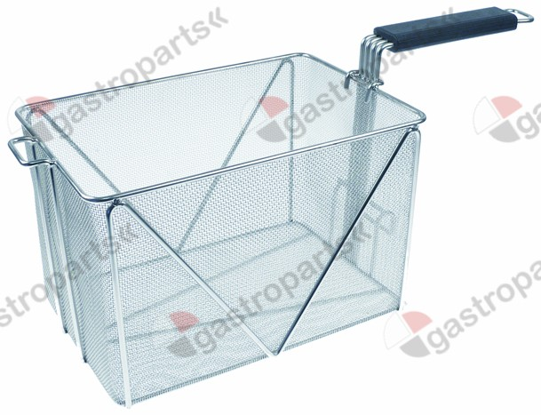 970.754, pasta basket H1 195mm W1 200mm L1 300mm L2 530mm H2 250mm with holder