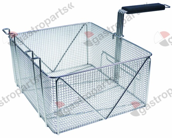 970.755, fryer basket W1 350mm L1 310mm H1 160mm H2 230mm